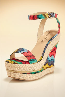 Multicolor Chevron Wedge
