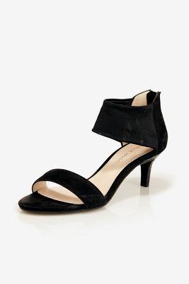 Mesh Ankle Strap Heel