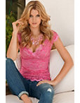 Cap-sleeve Lace Top Photo