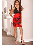 Rose Halter Sheath Dress Photo