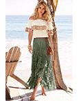 Lace Boho Maxi Skirt Photo