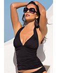 Shirred Halter Tankini Top Photo