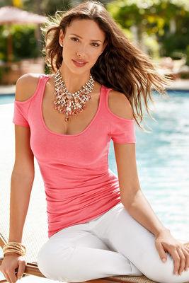 So Sexy™ cap-sleeve cold-shoulder top