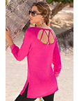 Strappy Back Detail Tunic Top Photo