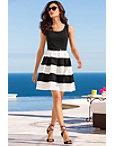 Stripe Belted Dress Photo