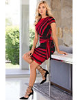 Stripe Knot Sheath Dress Photo