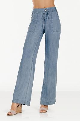 Tencel wide-leg pant