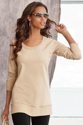Scoop-neck sweatshirt