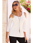 Travel Cold-shoulder Tunic Top Photo