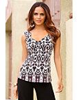 Cinched Front Print Tank Top Photo