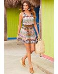 Colorful Sleeveless Dress Photo