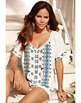 Linen Embellished Blouse Photo