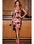 Paisley Rose Sheath Dress Photo