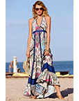 Printed Halter Maxi Dress Photo