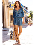 Embellished Chambray Romper Photo