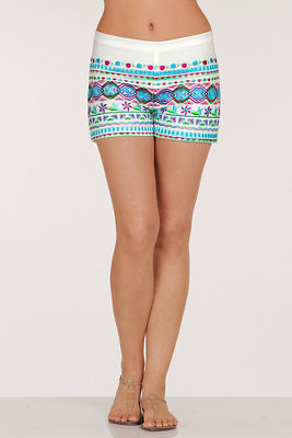 Embroidered pattern short