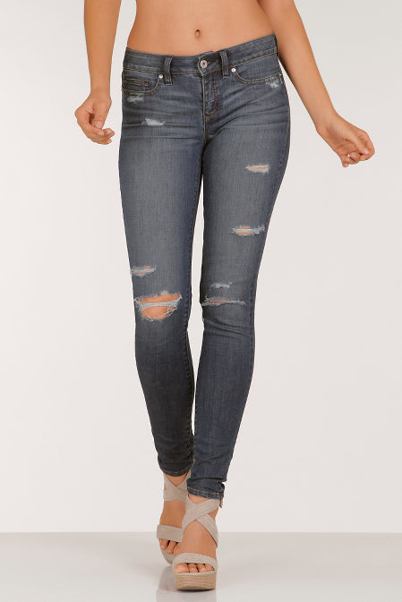 Yummie destroyed skinny jean image