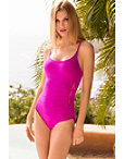 Zipper Starburst Maillot One-piece Swimsuit Photo