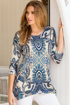 Paisley print tunic top 2100290400