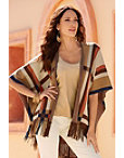 Colorblock Fringe Cape Photo