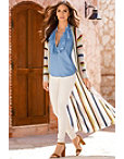 Striped Duster Coat Photo