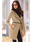 Textured Wrap Sweater Coat Photo