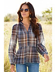 Plaid Printed Blouse Photo