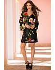 Floral Flare-sleeve Dress Photo