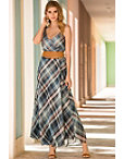 Plaid Maxi Dress Photo