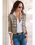 Embroidered Crop Jacket Photo