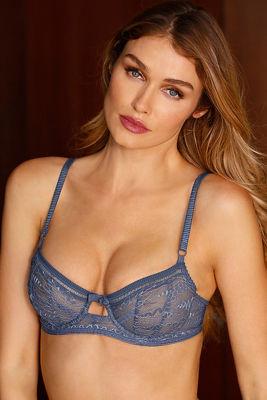 Chambray lace bra