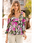 Camo Rose Cold-shoulder Blouse Photo