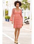 Flare-sleeve Crochet Dress Photo