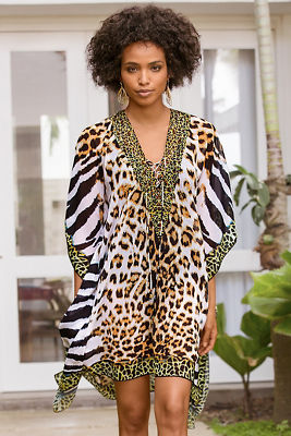 Leopard print cover-up