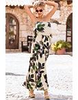 Watercolor Iris Maxi Dress Photo
