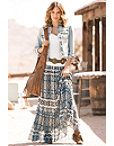 Native Tile Maxi Skirt Photo