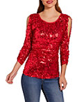Sequin Cold-shoulder Top Photo