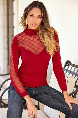 Sparkle embellished sweater