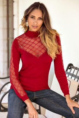 Sparkle embellished sweater