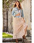 Elegant Lace Maxi Skirt Photo