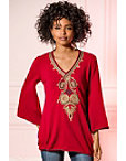 Embroidered Tunic Sweater Photo