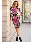 Ikat Geo Sheath Dress Photo