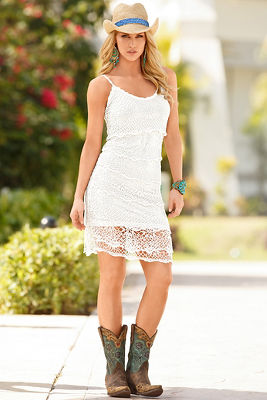 Crochet salsa dress