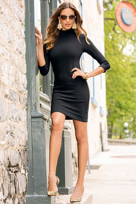 Travel turtleneck dress