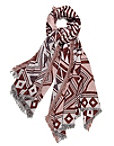 Burgundy Aztec Scarf Photo