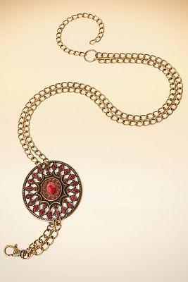 Chain medallion belt