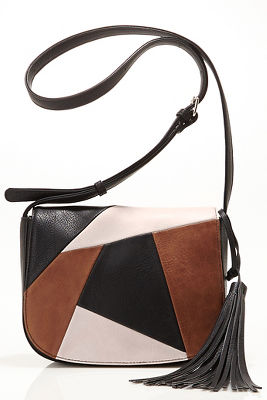 70s patchwork crossbody bag