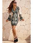 Embellished Aztec Print Dress Photo