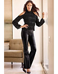 Faux Leather Flare Pant Photo