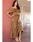 Faux Suede Maxi Dress Photo